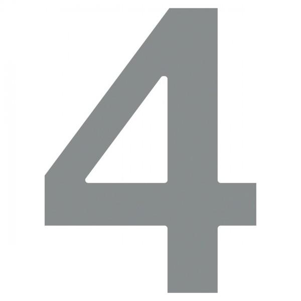 huisnummer ''4'' Grijs Mettallic