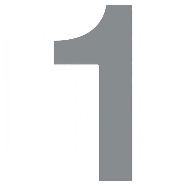 huisnummer ''1'' Grijs Mettallic