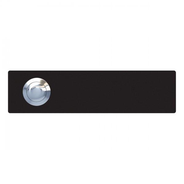 Deurbel rechthoekig Zwart