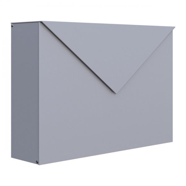 Brievenbus Letter Grijs Mettallic