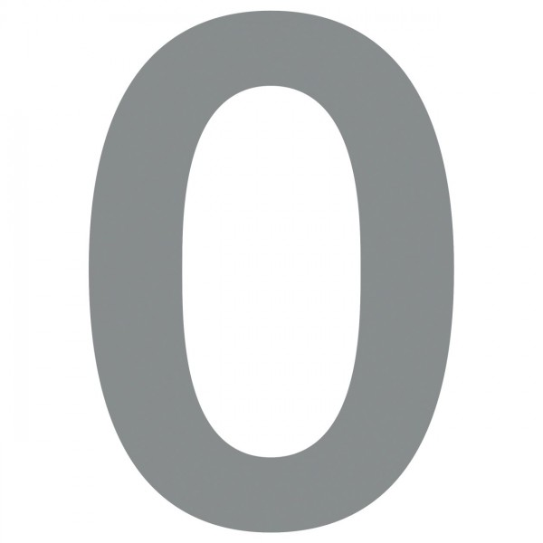 huisnummer ''0'' Grijs Mettallic
