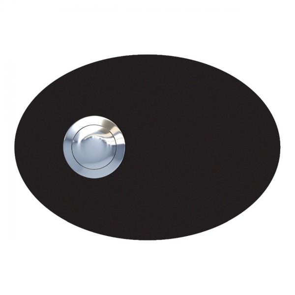 Deurbel Ellipse Zwart