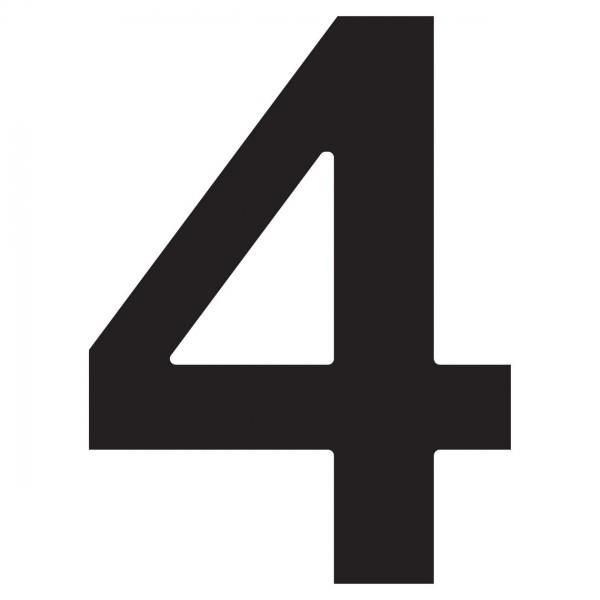 huisnummer ''4'' Zwart