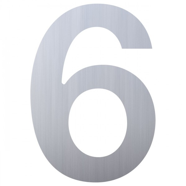 huisnummer ''6'' RVS
