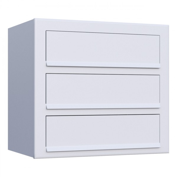 Postkastsysteem Cube voor drie Wit